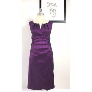 Adrianna papell dress 12 v-neck sleeveless purple